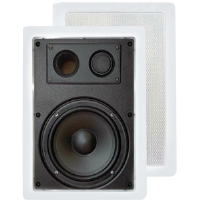 Pyle PDIW57 5.25' 300-Watt 2-Way In-Wall Enclosed Speakers With Directional Tweeter (Pair)