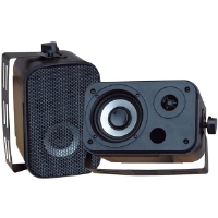 Pyle PD-WR30B 3.5&quot; Black 300-Watt Indoor/Outdoor Waterproof Speakers