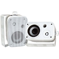 Pyle PD-WR30W 3.5&quot; White 300-Watt Indoor/Outdoor Waterproof Speakers