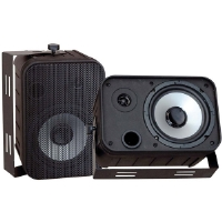 "Pyle PD-WR50B 6.5"" Black 500-Watt Indoor/Outdoor Waterproof Speakers"