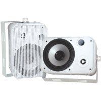 "Pyle PD-WR50W 6.5"" White 500-Watt Indoor/Outdoor Waterproof Speakers"