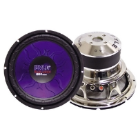 "Pyle PL-1590BL Blue Wave High-Powered Subwoofer - 15"", 1400W Max"
