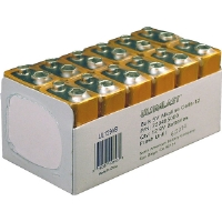 Ultralast UL129VB 9V Alkaline Battery Retail Pack - 12 Pack