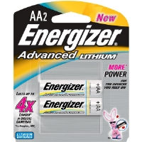 Energizer EA91BP-2 AA Advanced Lithium Battery Retail Pack - 2-Pack