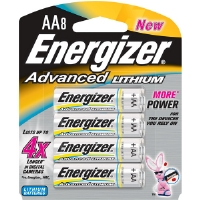 Energizer EA91BP-8 AA Advanced Lithium Battery Retail Pack - 8-Pack