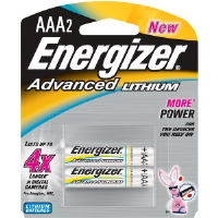 Energizer EA92BP-2 AAA Advanced Lithium Battery Retail Pack - 2-Pack
