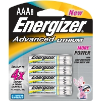 Energizer EA92BP-8 Advanced Lithium AAA Batteries - 8-pack