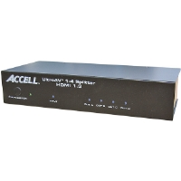 Accell K078C-003B UltraAV 1 x 4 HDMI 1.3 AV Splitter With Built-In Signal Repeater