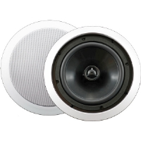 "AudioSource AC8C 8"" 100-Watt 2-Way In-Ceiling Speaker - White"
