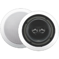 AudioSource AC6CD 2-Way Dual Tweeter In-Ceiling Speaker - 100 Watt, 6.5&quot; Woofer, 8ohm, White (Single)
