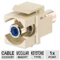 C2G Premise Plus Snap-In Blue - Modular insert - RCA - ivory (03341)