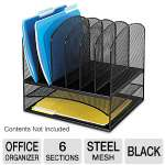 Onyx? 2 Horizontal/6 Upright Sections Desktop Organizer