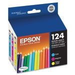 Epson 124 Multi-Pack - Print cartridge - Moderate Capacity - 1 x color (cyan, magenta, yellow) - for Stylus NX230 Small-in-One, NX330 Small-in-One, NX420, NX430 Small-in-One; WorkForce 435