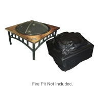 Fire Sense Outdoor Square Fire Pit Vinyl Cover-2056