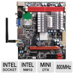 ZOTAC NM10-DTX ION Upgrade Kit - Mini DTX, Intel Atom D510, NVIDIA ION, GDDR3 512MB, 16 Stream Processors, PCIe, DVI, SLI, DirectX 10.1 (NM10-B-E-ION)