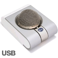 Blue Snowflake Microphone - USB, No Drivers Required, Fits Desktop and Laptop
