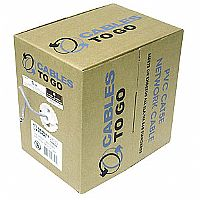 Cables To Go 500-Foot Roll Cat5e 350 MHz Solid Plenum CMP Cable, Gray