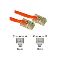 C2G Cat5e Non-Booted Unshielded (UTP) Network Crossover Patch Cable - Crossover cable - RJ-45 (M) to RJ-45 (M) - 10 ft - UTP - CAT 5e - (24513)