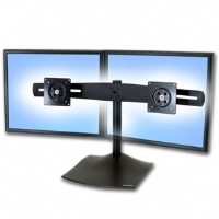 "Ergotron 33-322-200 Dual Horizontal Monitor Deskstand up to 22"" LCDs - Black"