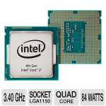 Intel Core i7-4770 Processor - Quad Core, 8MB Cache, 32GB Max Memory, 3.40GHz Max Speed, 2 Memory Channels, 16 Max PCI Express Lanes, OEM Tray - CM8064601464303