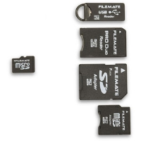 Wintec 3FMUSDCK8GB-R FileMate Micro SDHC Flash Card with Adapter Kit - 8GB