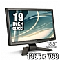 "Acer X183H Bb ET.XX3HP.B01 19"" Class Widescreen LCD Monitor - 1366x768, 10000:1 Dynamic, 5ms, VGA, Black"