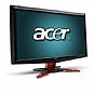 "Acer GD235HZ bid 24"" Class Widescreen LCD HD Monitor - 1080p, 1920 x 1080, 16:9, 80000:1 Dynamic, 120Hz, 2ms, HDMI, DVI, VGA, 3D Ready, Black/Orange"