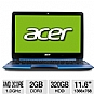 "Alternate view 1 for Acer Aspire Dual-Core 11.6"" Blue Netbook REFURB"