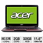 "Alternate view 1 for Acer Aspire Dual-Core 11.6"" Red Netbook"