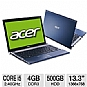 "Alternate view 1 for Acer Aspire AS3830T-6870 13.3"" Blue Noteboo REFURB"