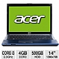 "Alternate view 1 for Acer Aspire Timeline 14"" Core i3 Blue Notebook PC"