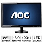 "Alternate view 1 for AOC e2251Fwu 22"" Class Widescreen LED Backlit Moni"
