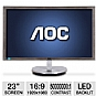 "Alternate view 1 for AOC i2353Ph 23"" Class Widescreen HDMI LED Monitor"