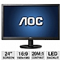 "Alternate view 1 for AOC 24"" Wide 1080p LED Monitor, VGA, DVI"