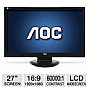 "Alternate view 1 for AOC 2770Vh1 27"" Widescreen HD LCD Monitor"