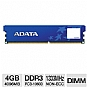 ADATA Premier Series AD3U1333C4G9-SH 4GB Desktop Memory Module - PC3-10666, DDR3-1333MHz, 240-pin DIMM