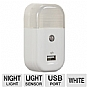 Audiovox USBNL1R Night Light USB Charger - LED Night Light, Light Sensor, 5 Volt USB Outlet, iPod/iPhone Compatible, White