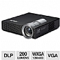 Asus P1 WXGA Widescreen LED Pico Projector - 200 ANSI Lumens, 1280 x 800, 16:10, 2000:1, VGA, 14.6 oz.