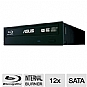 Asus BW-12B1ST/BLK/G/AS Internal 12x Blu-Ray Burner - BD-R 12x, BD-R DL 8x, BD-R LTH 4x, BD-RE 2x, BD-RE DL 2x, DVDR 16x, DVD+RW 8x, DVD-RW 6x, DVDR DL 8x, DVD-RAM 12x, CD-R 48x, CD-RW 24x, SATA