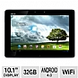 ASUS TF300T-B1-BL Eee Pad Transformer Tablet - Android Ice Cream Sandwich, NVIDIA Tegra 3 1.2GHz, 1GB DDR3, 32GB Flash Storage, 10.1&quot; Touch Screen, Dual Webcams, Blue (Refurbished)