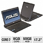 ASUS G73SW-XT1 Laptop Computer - Intel Core i7-2630QM 2.0GHz, 8GB DDR3, 500GB HDD, Blu-ray/DVDRW, 17.3&quot; Full HD, Windows 7 Home Premium 64-bit, Black, (Refurbished)
