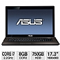 "Alternate view 1 for ASUS 17.3"" Core i7 8GB/750GB GT610M Laptop"