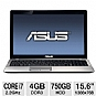 Alternate view 1 for ASUS 15.6&quot; Core i7 4GB/750GB GT610M Pro Laptop