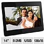 "Alternate view 1 for Aluratek ADMPF114F 14"" Digital Photo Frame"