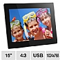 "Alternate view 1 for Aluratek ADMPF315F 15"" Digital Photo Frame"