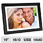 "Alternate view 1 for Aluratek ADMPF119 19"" Digital Photo Frame"