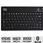 Adesso WKB-2000BA Bluetooth Mini Keyboard 2000 for iPad, iPad 2/New iPad (iPad 3) - Bluetooth 3.0 Wireless Technology, Water Resistant, 8 iPad Hotkeys, 6 Multimedia Keys, 30ft Range, Black