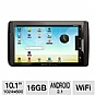 "Archos 101 Internet Tablet - 10.1"" Screen, 1024 x 600, Built-in Speakers, 16GB, Android 2.1 User Interface, WiFi"