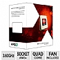 AMD FD4100WMGUSBX FX-4100 Processor - Quad Core, 8MB L3 Cache, 2MB L2 Cache, 3.60GHz (3.80GHz Max Turbo), Socket AM3+, 95W, Fan, Unlocked, Retail