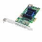 Adaptec 2271700-R RAID 6405E Controller Card - SAS/SATA III (6Gb/s), 4-Port (Internal), PCI-Express 2.0 (x1), 128MB DDR2 Cache, RAID 0, 1, 10, 1E, JBOD, Low Profile (Refurbished)